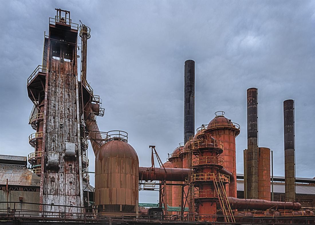 Sloss Furnaces - Blast Furnace, Skip Bridge, Blast Stoves