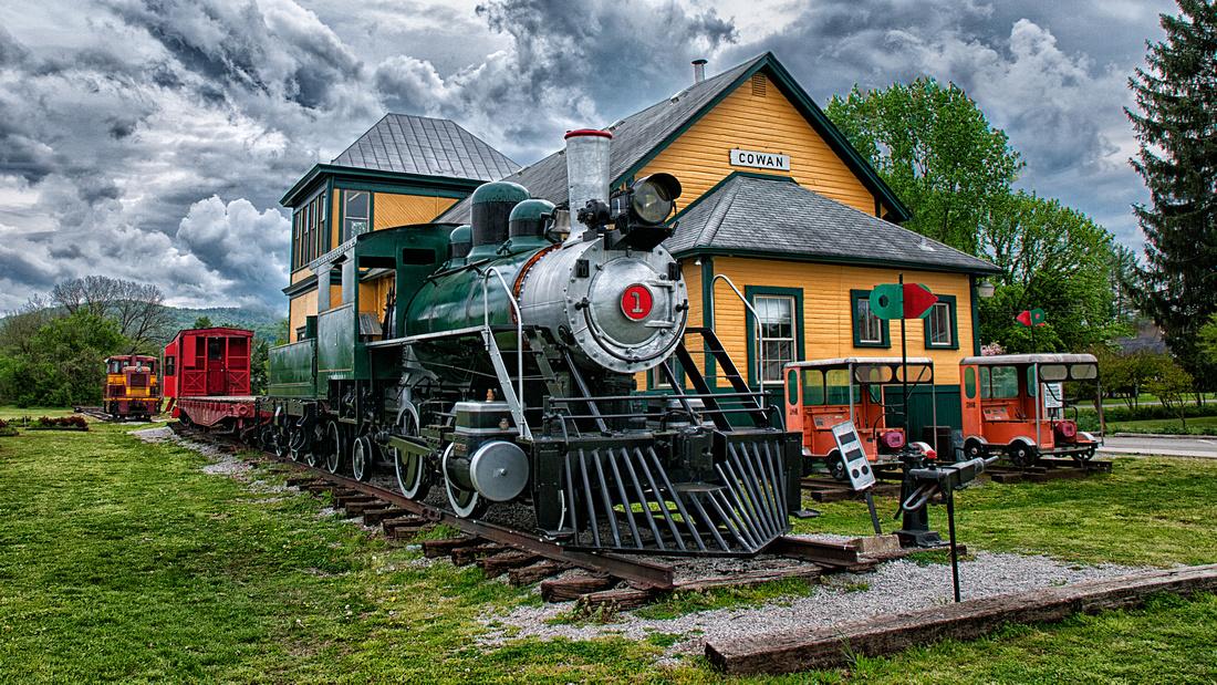 Engine #1 - Steam Locomotive - Columbia Type (2-4-2) - 1920 Cowan Railroad Museum - Cowan, TN - March 2012