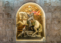 Bethlehem, Church of the Nativity, Sculpture of St. George on Horseback