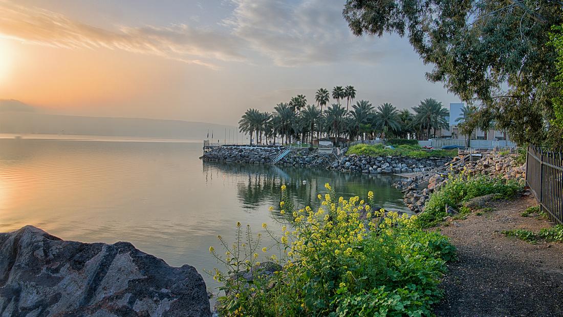 Sea of Galilee, Tiberias, Sunrise on Ron Beach